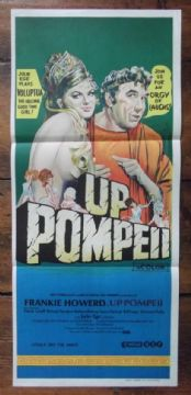 Up Pompeii, Original Australian Daybill Poster, Frankie Howerd, Julie Ege, '71